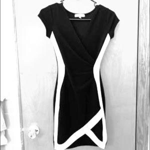Black and White Bodycon mini dress XS
